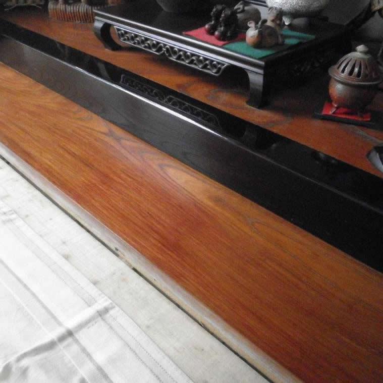 床板塗膜剥がれ補修 補修後