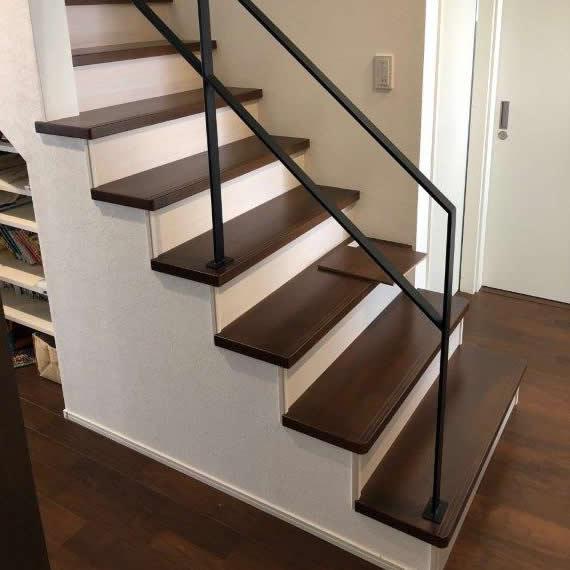 階段塗装 補修後