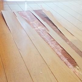 床の劣化 補修前